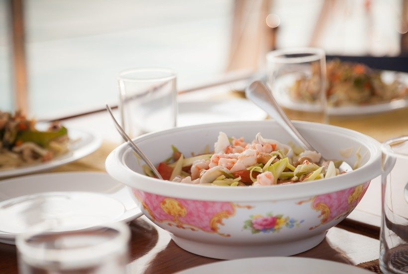 Cooking delicious meals during your Rent a Yacht Holidays charter