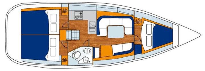 Jeanneau 36 floor plan