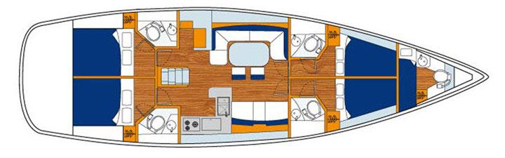 Jeanneau 53 floor plan