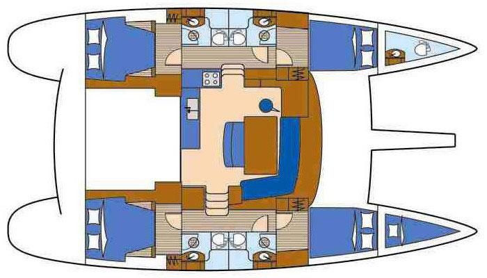 Floor plan Beneteau Lagoon 440