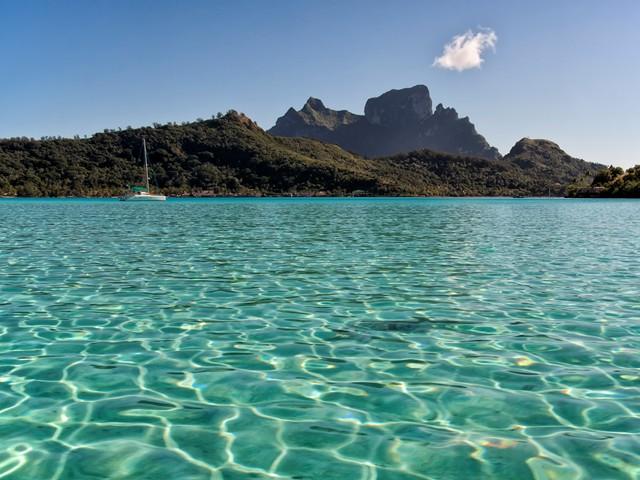 Beautiful Bora Bora in French Polynesia